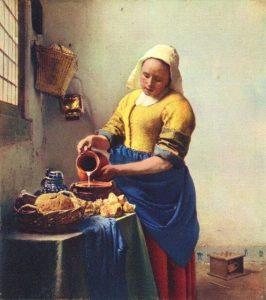 """""""La lechera"""", Vermeer."""